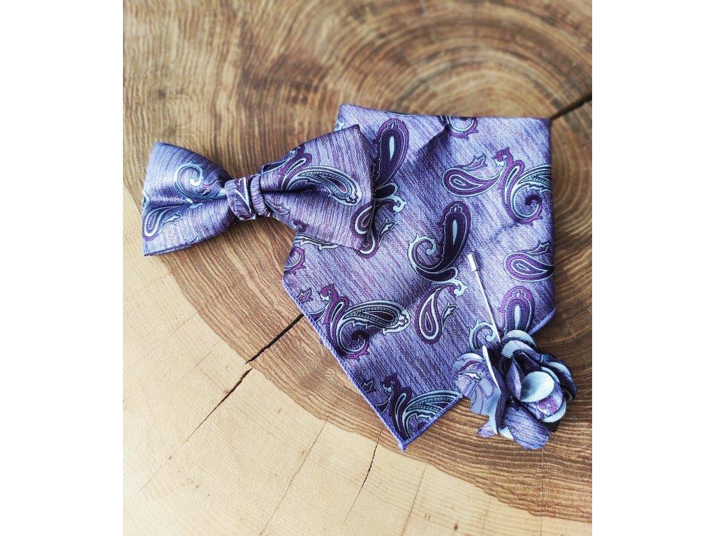 Fialový motýlek, vzor