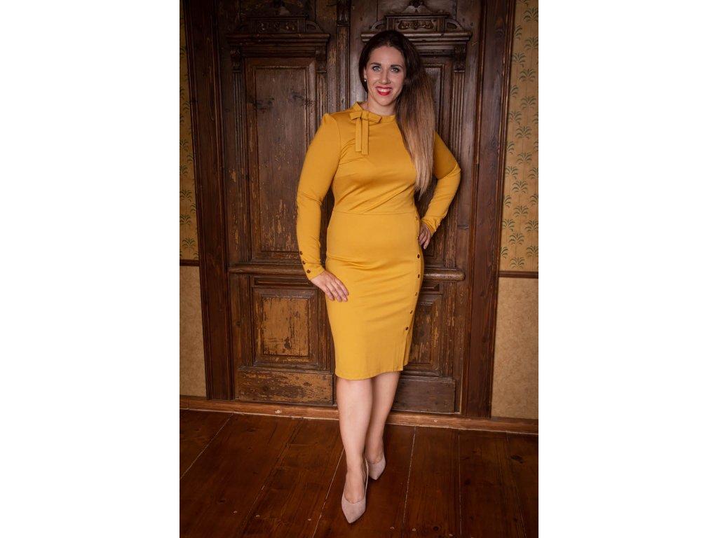 Žluté (hořčicové) šaty