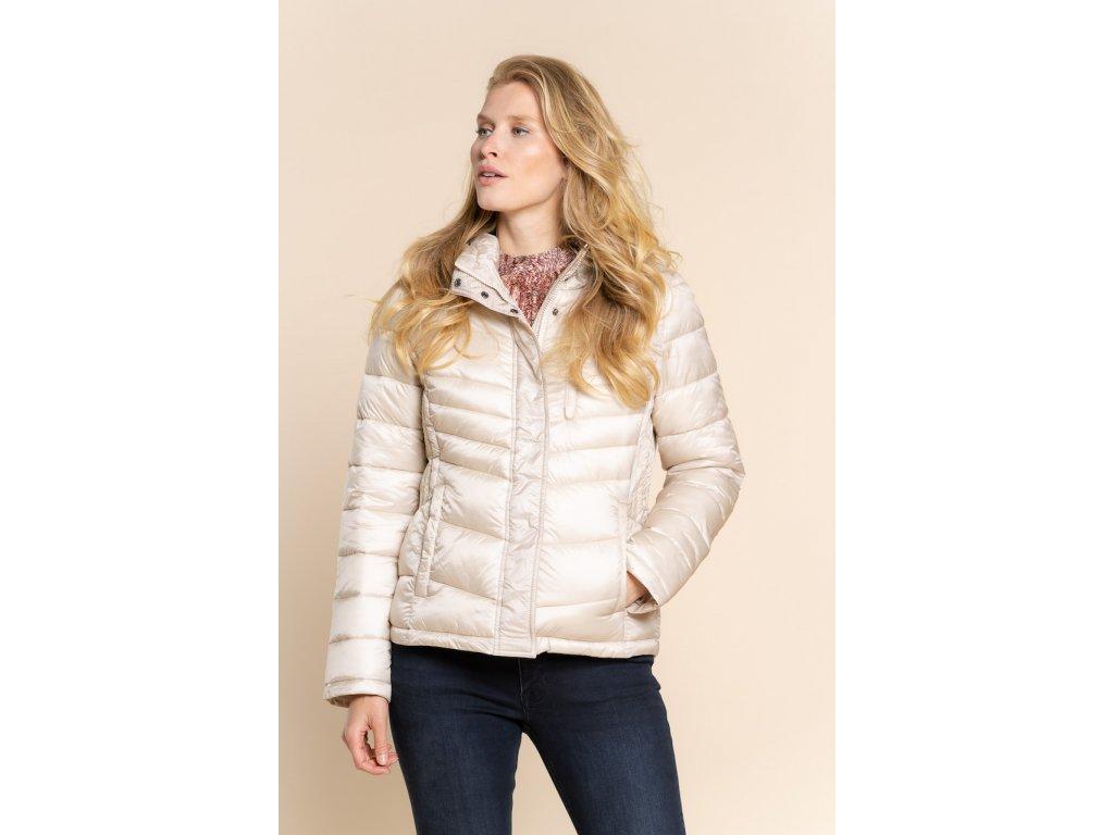 Zimní prošívaná bunda béžová