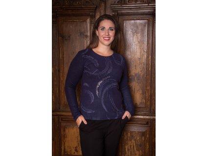 Dámský lehký svetr se vzorem