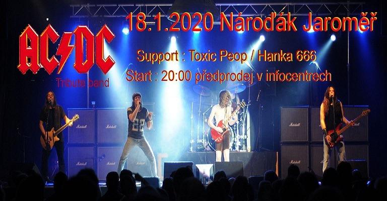 18.1.2020 AC/DC Czech revival/Toxic People/Hanka 666