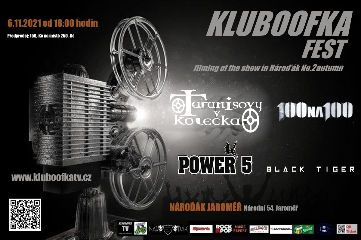 6.11.2021 KLUBOOFKA FEST - filming of the show in Nároďák No.2 autumn