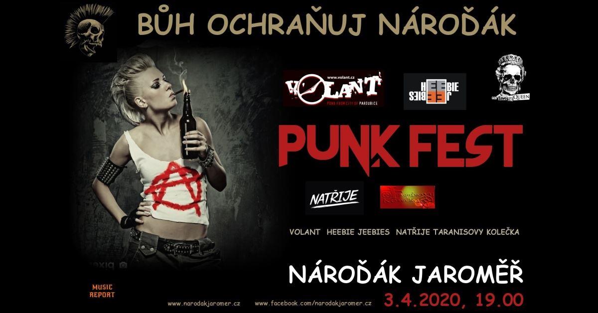 Festival punkrockových kapel v Nároďáku Jaroměř.