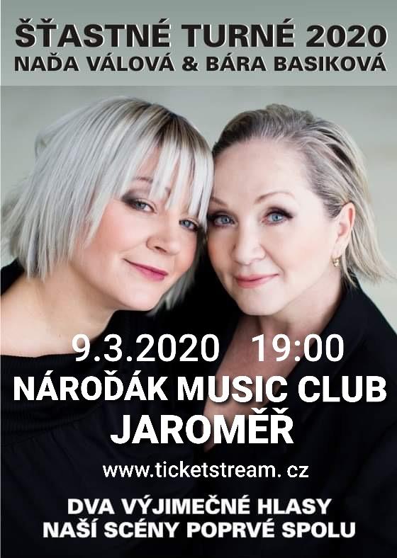 Šťastné turné 2020 Naďa Válová + Bára Basiková
