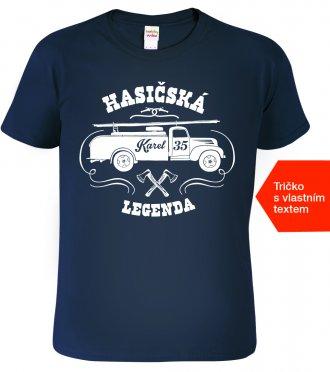 Hasičské tričko k narozeninám - dárek pro muže