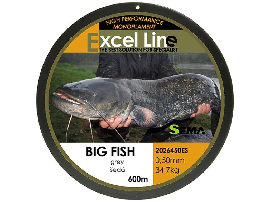 Vlasec Sema Big Fish šedá - 600m