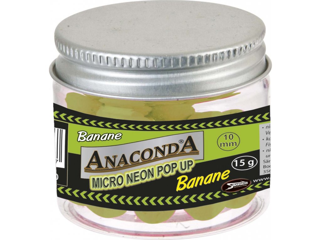 Micro neon pop-up s příchutí Anaconda Příchuť Banán