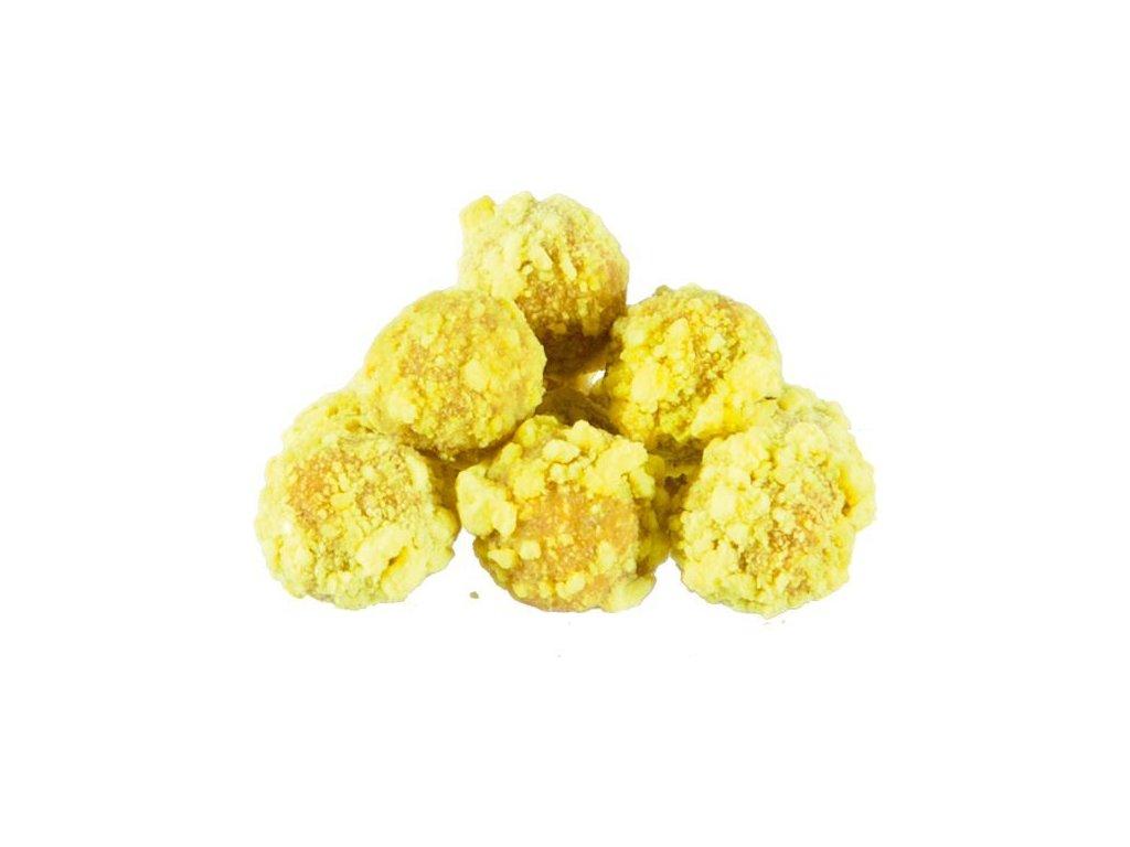 MS Range křupavé boilies Fluo crispy boilies  Příchuť Ananas