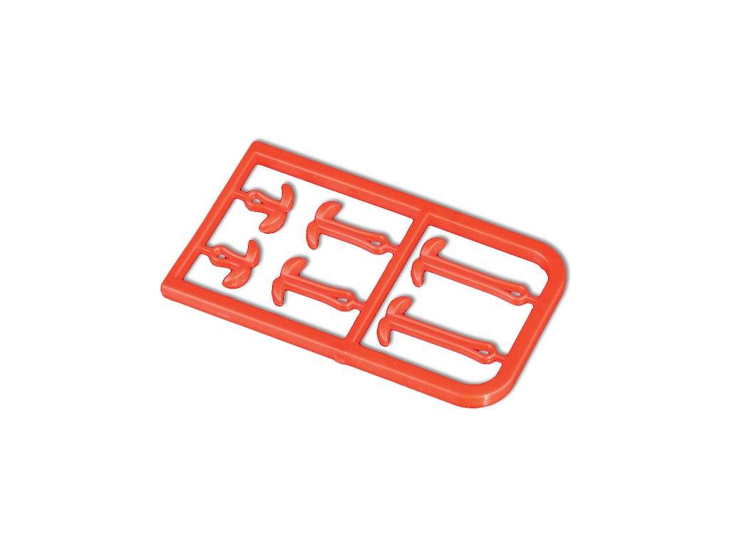Zarážka Boilie - prodlužovač vlasce S/M/L - červená – bal.2ks