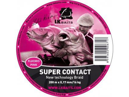 LK Baits šňůra Super Contact Braid 200m 0,17mm/16kg