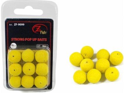 Zfish Pěnová Nástraha Foam Pop up Baits Yellow 15mm