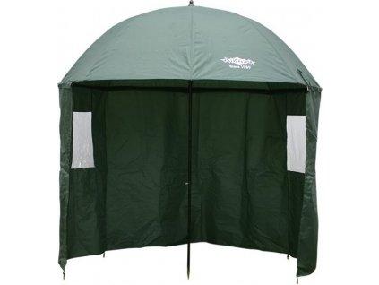 Deštník - GREEN s bočnicí 2.5m