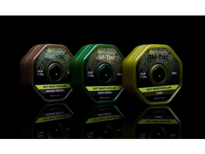 RidgeMonkey RM-TEC Soft Braid jemná pletená šňůrka 25lb/20m