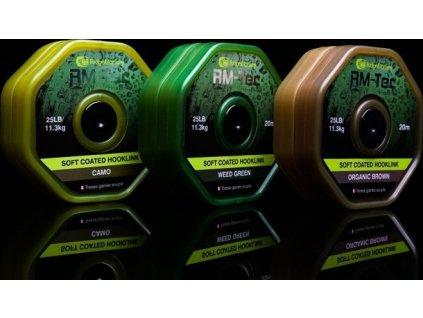 RidgeMonkey RM-TEC Soft Coated potahovaná šňůra 25lb/20m