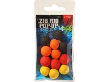Pěnové plovoucí boilie Zig Rig Pop-Up 10mm mix color,12ks
