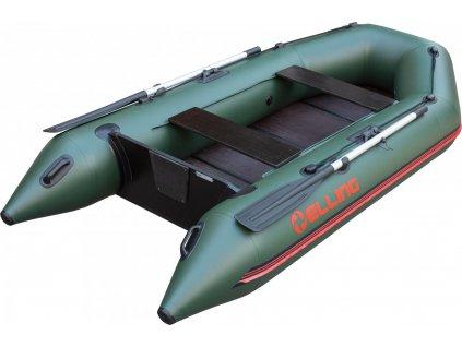 Nafukovací čluny Elling - Forsage 240 s pevnou skládací podlahou, zelený