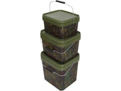 Gardner kbelík hranatý Square Buckets|Camo 2,5l