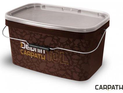 Hranaté vědro s víkem Delphin CARPATH 10l