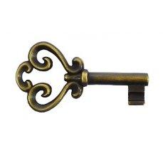 Klíč pro zámek Z97, Z06 (povrchová úprava mosazná patina), l=59mm