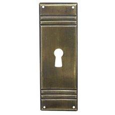 ŠTÍTEK RAŽENÝ 34x96mm s otvorem pro klíč