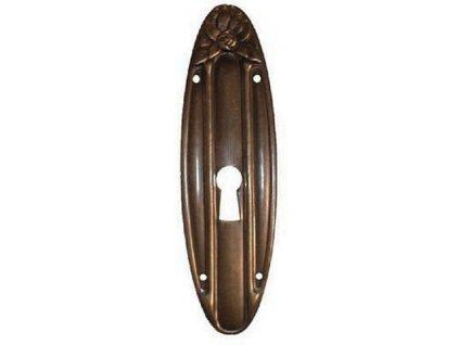 ŠTÍTEK RAŽENÝ 98x28mm s otvorem pro klíč