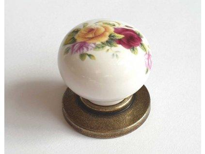 porcelanova knopka SZ