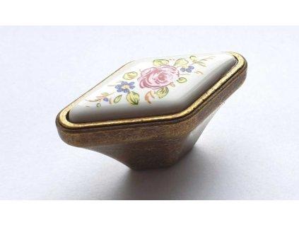 porcelanova knopka mat