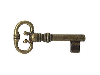 Klíč pro zámek Z97, Z06 (povrchová úprava mosazná patina), l=57mm