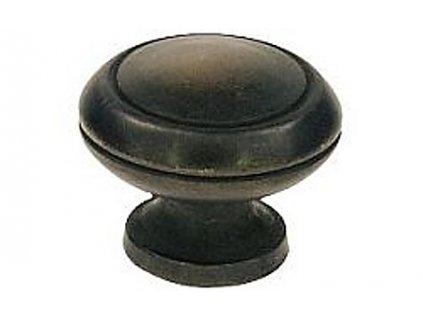 MOSAZNÁ KNOPKA Ø 28 mm - litá mosaz