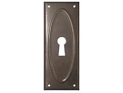 ŠTÍTEK RAŽENÝ 74x30mm s otvorem pro klíč