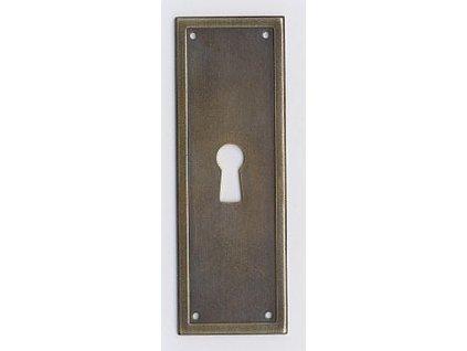 ŠTÍTEK RAŽENÝ 88x30mm s otvorem pro klíč