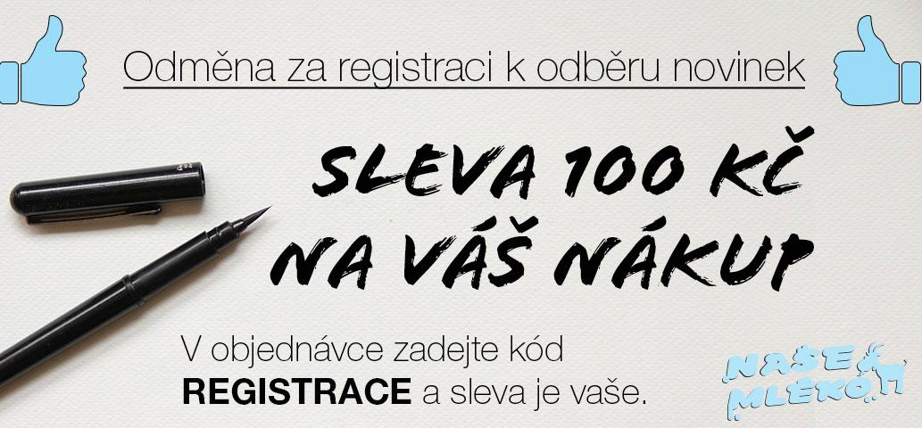 Sleva 100 Kč při registraci k odběru novinek (newsletteru)