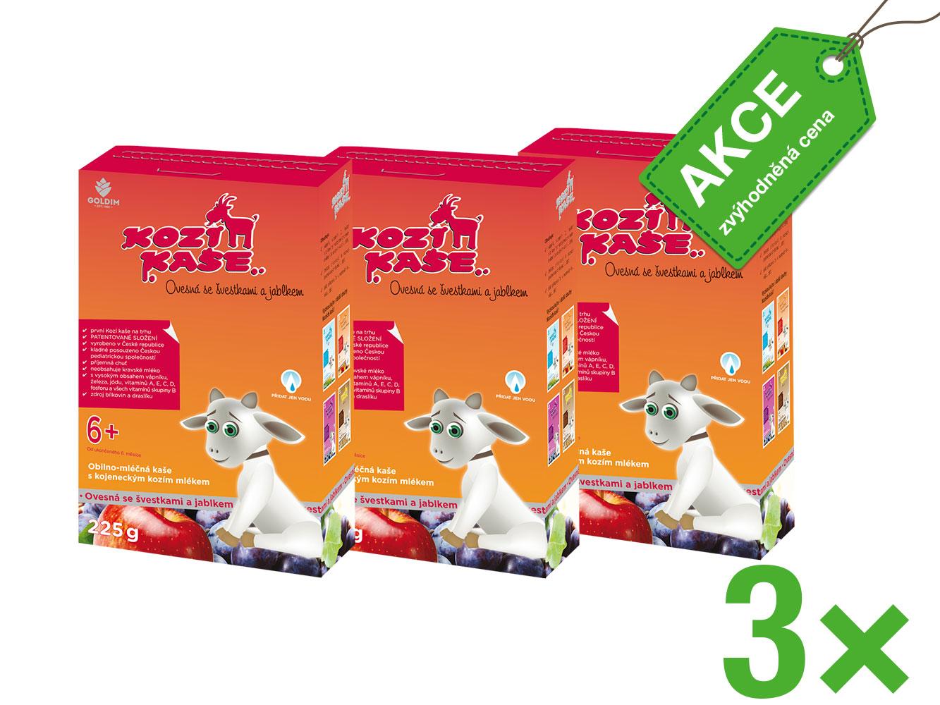 Nové multipack balení vaší oblíbené Kozí kaše Ovesné