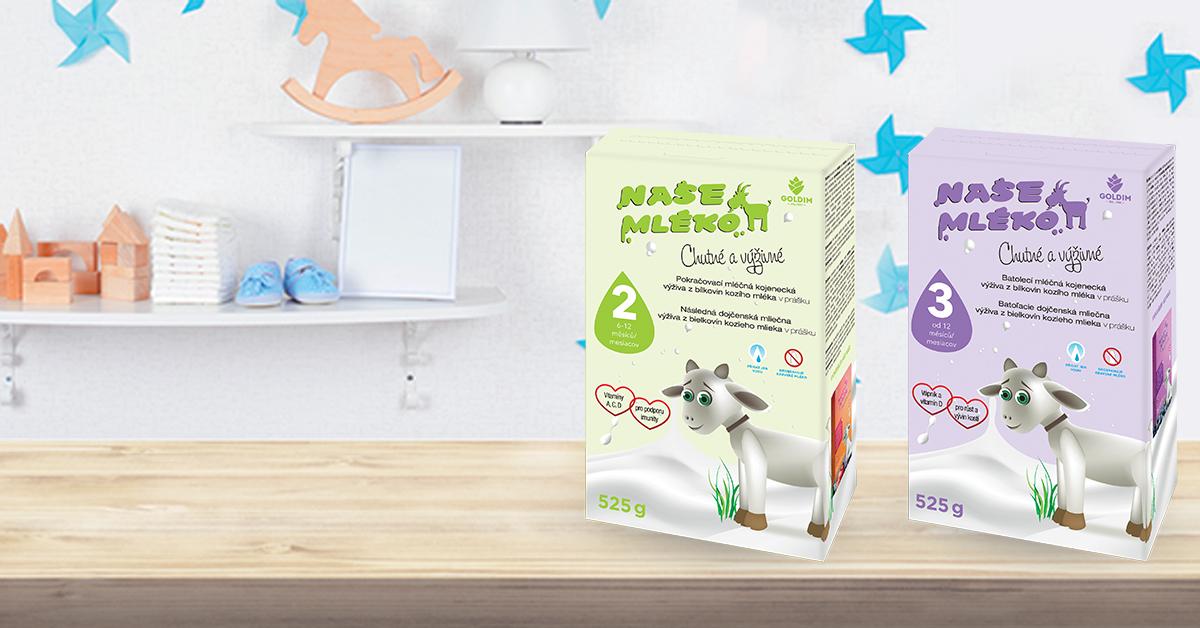Vaše oblíbené kojenecké mléko v novém!