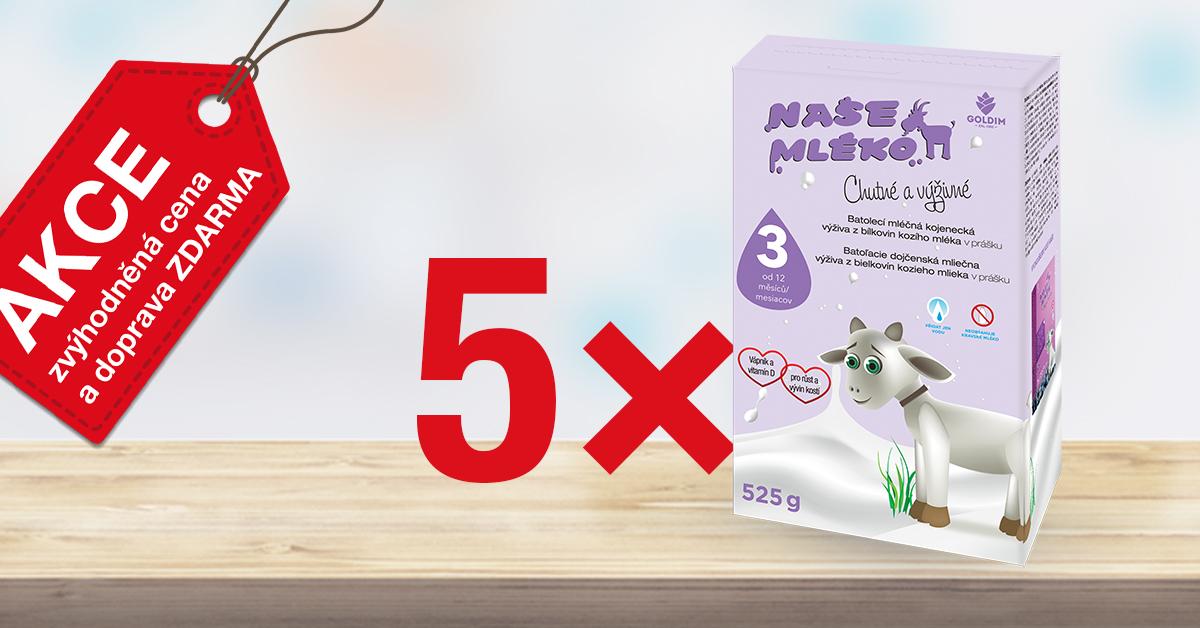Kojenecké kozí mléko Naše mléko 3 pokračovací výhodněji!