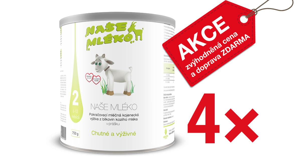 Multipacky vašeho oblíbeného kozího mléka pro kojence a batolata nyní výhodněji!
