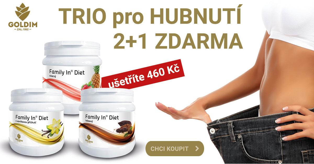 Protein 2+1 zdarma pro HUBNUTÍ