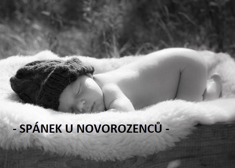 Spánek u novorozenců a kojenců