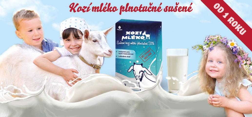 Kozí mléko plnotučné sušené pro teplou i studenou kuchyni!