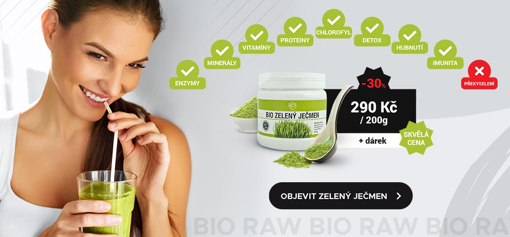 BIO Zelený ječmen pro detoxikaci vašeho těla.