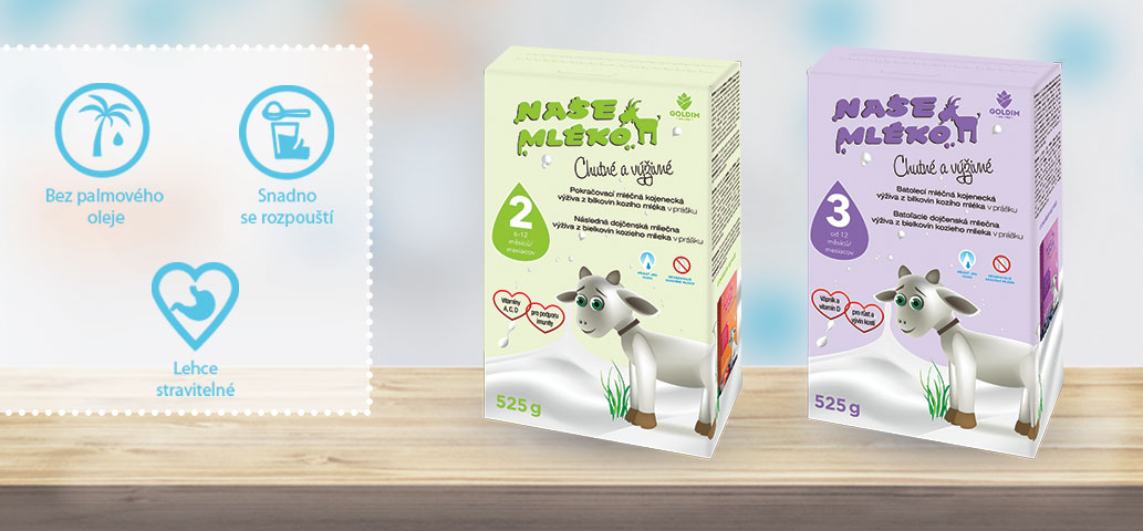 Vaše oblíbená kojenecká mléka v novém designu