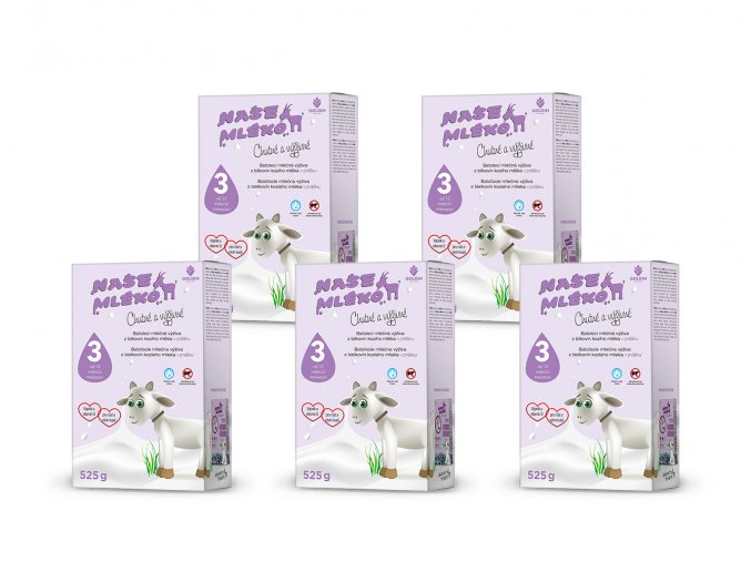 mleko 3 krabice multipack