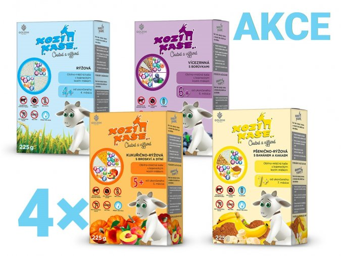 KOZÍ KAŠE MULTIPACK MIX, 4×225g