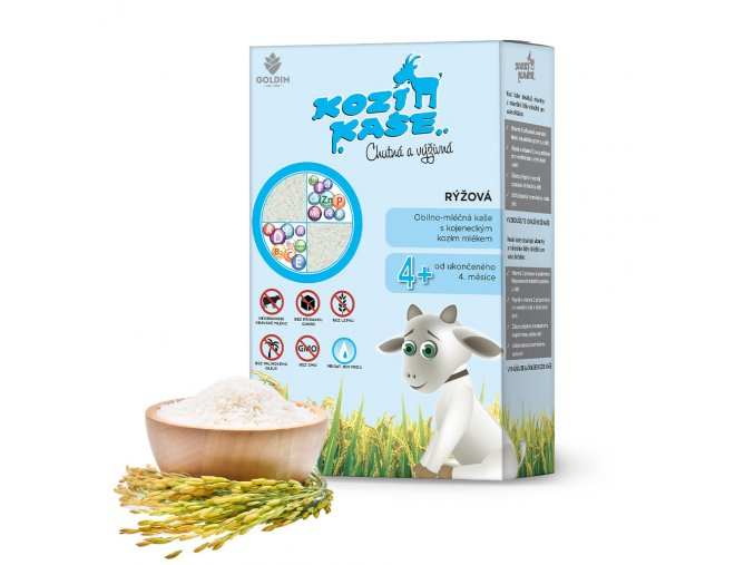 Kozí kaše pro kojence rýžová 225 g od 4 měsíce