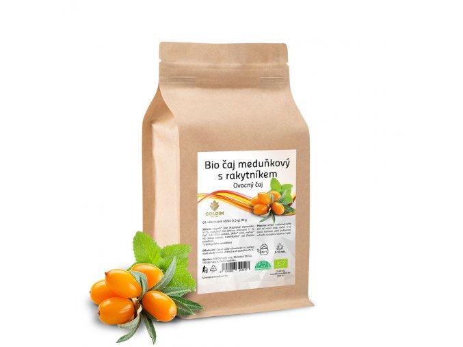 BIO čaj bylinný meduňkový s rakytníkem 60 sáčků x 1,5 g