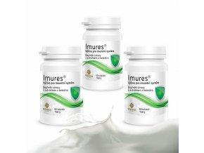 IMURES, zvýšená výživa imunitního systému s kolostrem 3x
