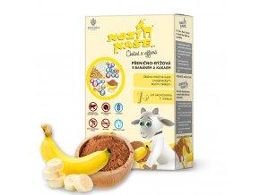 KOZÍ KAŠE Pšenično rýžová s banánem a kakaem 225g