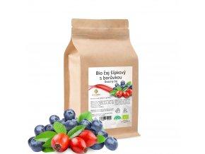 BIO čaj ovocný šípkový s borůvkou 60 sáčků x 1,5 g
