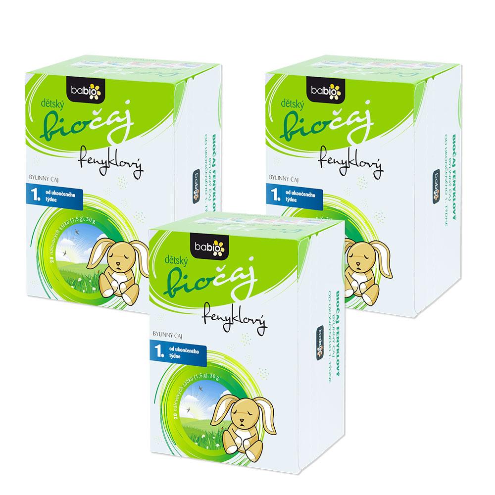 Levně BABIO Dětský čaj všechny druhy 2+1 ZDARMA BIO* Varianty produktu: Fenyklový bio čaj 2+1 zdarma