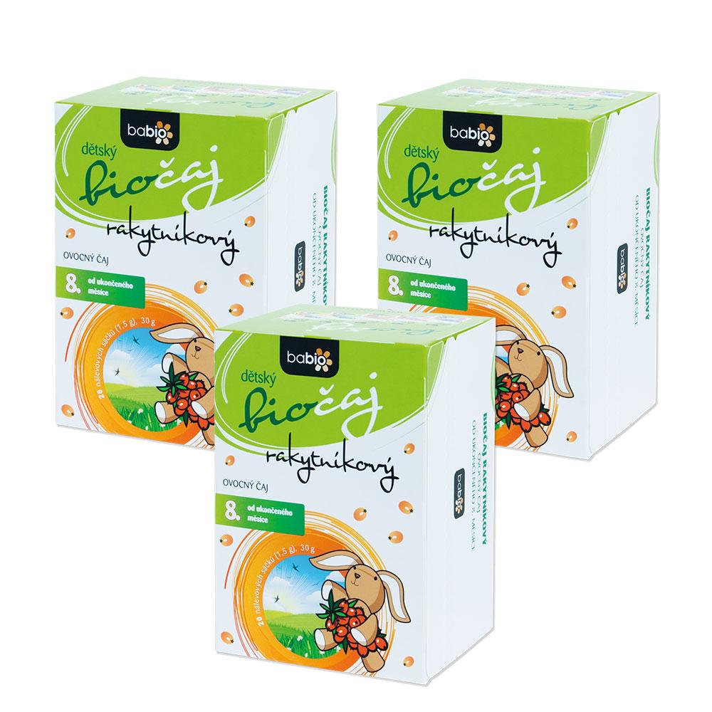 Levně BABIO Dětský čaj všechny druhy 2+1 ZDARMA BIO* Varianty produktu: Rakytníkový bio čaj 2+1 zdarma